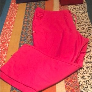 Dickies hot pink scrub pants . 2x